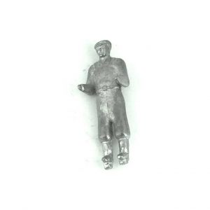 Dinky 27g 342 Moto Cart Driver Unpainted White Metal