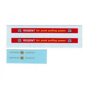 Dinky 292 Atlantean City Bus Regent Adverts Corporation Waterslide Transfer