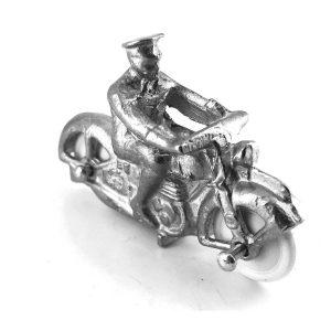 Dinky 37c Army Royal Corps of Signals Despatch Rider White Metal
