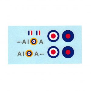 Dinky 719 741 Spitfire MK11 A1 A Squadron Waterslide Transfer Decal