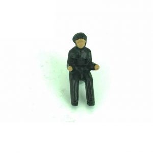 Dinky Army 150d Royal Tank Corps Driver Painted White Metal