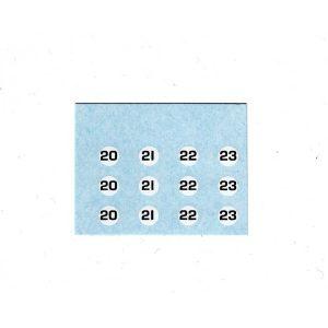 Dinky or Code 3 7mm Racing Car Numbers Black on White Circle