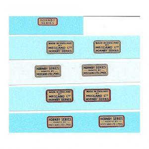 Hornby O Gauge Trade Marks | Red Outline 4 lines of lettering