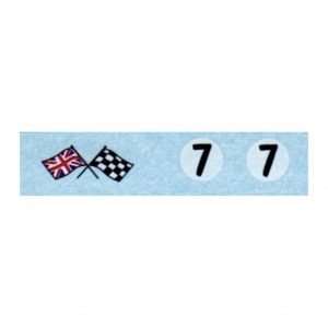 Corgi 227 Mini-Cooper Competition | Number 7 & Flags Waterslide Transfer Set