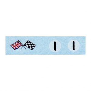 Corgi 227 Mini-Cooper Competition Number 1 & Flags Waterslide Transfer