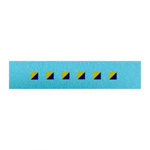 Dinky 626 Military Ambulance   3mm Signs Blue/Yellow Diagonal