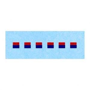 Dinky 600 series Army / Military Vehicles   3mm Signs Red / Blue Horizontal