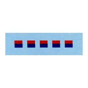 Dinky 689 Medium Artillery   4mm Signs Red / Blue Horizontal