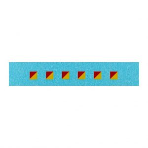 Dinky 674 Austin Champ   3mm Signs Red / Yellow   Diagonal