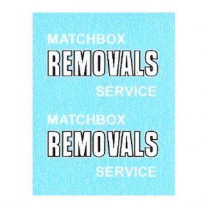 Matchbox 17a Bedford Van | Matchbox Removals Black outline