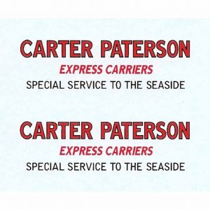 Dinky 25B Covered Wagon | Carter Paterson Special Service Waterslide Decal