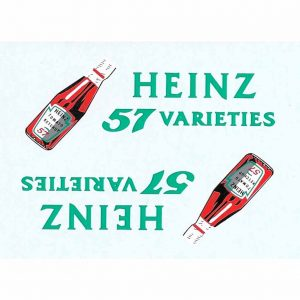 Dinky 923 Big Bedford Van | HEINZ Ketchup Sauce Bottle Waterslide Transfer