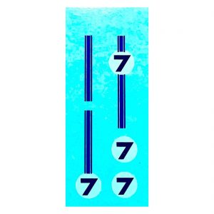 Dinky 215 Ford GT   Number 7 Waterslide Transfer/Decal