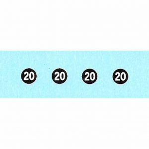 Dinky 25 Series | 20mph Speed Restriction Waterslide Transfer/Decal