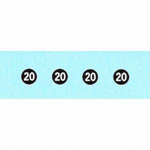 Dinky 25/500/900 Series | 20mph Speed Restriction Waterslide Transfer