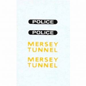 Dinky 255 Landrover | Mersey Tunnel Police Waterslide Transfer/Decal