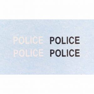 Dinky 258 De Soto/Dodge U.S.A. | Police Cars Waterslide Transfers/Decals