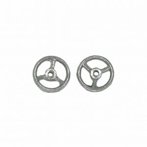 Dinky 27a Tractor, 27d Land Rover | 2 x Steering Wheels | White Metal