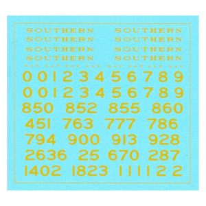 SR Maunsell OO Gauge Locos   Yellow Lettering and Numbering Transfers